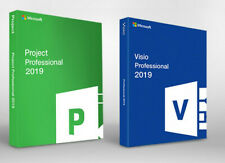 Microsoft Visio Professional + Project Professional 2019 Licence key Instant