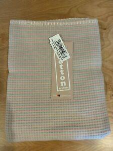 David Fussenegger Light Pink Stripes Flamingo Flannel Blanket