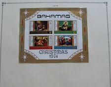 BAHAMAS - 1974 SCARCE CHRISTMAS S/SHEET UNUSED MINT RR