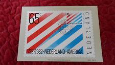 Carte maximum Maximumkaart Nederland Amerika 1982 - 65c