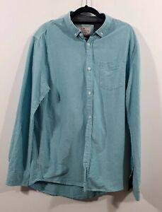 Brunswick garments mens shirt classic fit blue cotton sz L