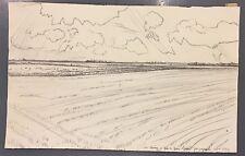 Jacquemin André dessin au crayon signé Reims et Bar Le Duc 1964 Epinal Le Puy