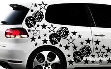 93-teiliges Sterne Würfel Cube Star Auto Aufkleber Tuning WANDTATTOO Blumen xßß0