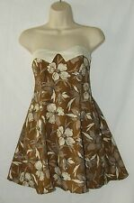 Motel Vintage Dress Floral 50's Style Rockabilly Lindyhop Strapless Size 8 NWT