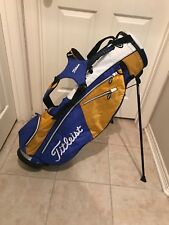 TITLEIST GOLF BAG **WHITE, BLUE & GOLD**EXCELLENT CONDITION** STAND BAG W/ STRAP