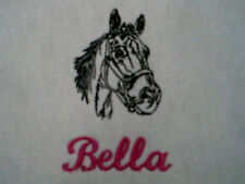 personlized... add your little girls name to this horses   pillow case