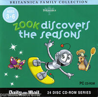 BRITANNICA FAMILY COLLECTION: ZOOK DISCOVERS THE SEASONS (Daily Mail PC CD-ROM)
