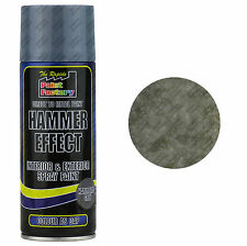 x3 Grey Hammered Effect Spray Paint 400ml Can Interior Exterior Metal Rust