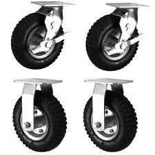 "Air Filled Black Rubber Pneumatic Swivel Braked/Fixed Castors (200-300MM/8-12"")"