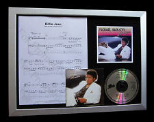 MICHAEL JACKSON Billie Jean LTD MUSIC CD QUALITY FRAMED DISPLAY+FAST GLOBAL SHIP