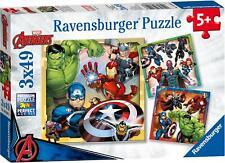 Ravensburger AVENGERS ASSEMBLE 3 X 49PC JIGSAW PUZZLES Toys Games BN