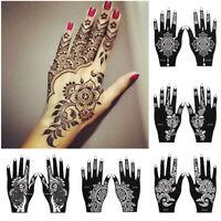 temporaire de main tatouage pochoirs vignette henné modèle diy art corporel