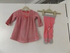 Next 2 piece outfit set dress and tights aged 3 - 6 Months