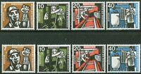2 x Bund Nr. 270 - 273 sauber postfrisch BRD Satz 1957 Wohlfahrt Bergbau MNH