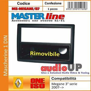 MASCHERINA AUTORADIO 1 DIN RENAULT MEGANE DAL 2005 AL 2009. CASSETTO RIMOVIBILE