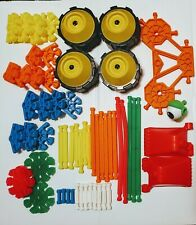 K'Nex Building Toy Lot of 58 Pieces Assorted Building Toy Wheels Eyes Shapes