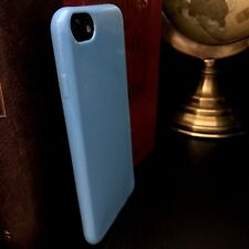 Apple iPhone 6 Case  Flexible Neon Blue Gel Protective Slim Cover
