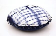 """Indian Cushion Cover Round Throw Pillow Cover Tie Dye Cotton Bed Sofa 16"""" Decor"""