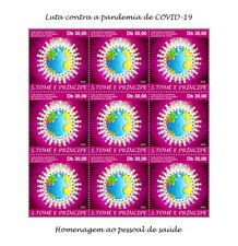 More details for sao tome & principe medical stamps 2020 mnh corona health workers 9v m/s