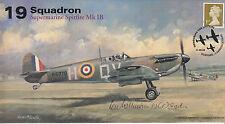 AV600 WWII 19 Sqn Supermarine Spitfire RAF Battle of Britain signed WILKINSON