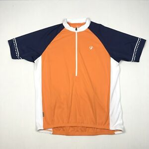 Bontrager Men's XL Orange blue 1/2 Zip Short Sleeve Solstice Cycling Jersey