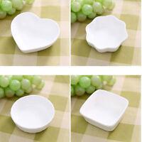 New Small Ceramic White Seasoning Plate Dishes Kitchen Bowl Sugar Holder