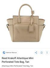 $1,500 Reed Krakoff  ATLANTIQUE Perforated Nude Leather Bag & Wallet celebrity