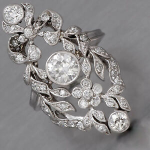 Charming 0.70ct European-Cut VS1 Clarity Diamond Women's Ring With 925 Silver
