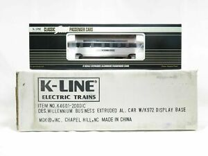NEW K-Line K4601-2000IC Millennium Business Extruded Aluminum Car with Base