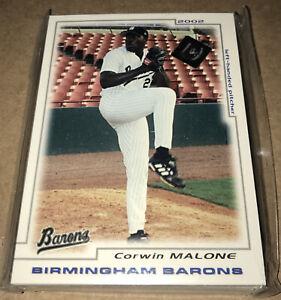 2002 Birmingham Barons Complete Card Set! Chicago White Sox