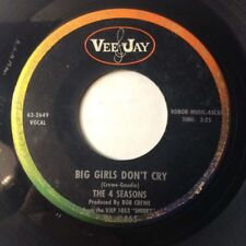 """The 4 Seasons 45 Big Girls Don't Cry/Connie-O 1962 VEE JAY POP ROCK&ROLL VG 7"""""""