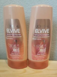 2 x L'Oreal Paris Elvive Smooth Intense Smoothing Conditioner 12.6 oz