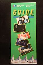 Worlds Fair Expo 1986 Vancouver Canada Pavilion Guide Fold Out Brochure NICE