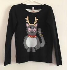 NO BOUNDARIES CHRISTMAS CAT SWEATER   SIZE S 3-5