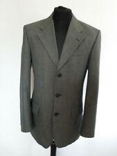 "Burton Mens Grey Black White Checked Smart Jacket Pockets Collar UK 36"" Regular"