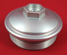 6.0L Powerstroke Billet Aluminum Fuel Filter Cap with Pressure Test Port 03- 10