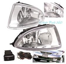 04 05 HONDA CIVIC DX EX GX HX 2/4DR BUMPER DRIVING CHROME FOG LIGHTS LAMP+SWITCH