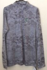 NWT Under Armour Oakland Athletics Gray Heatgear Loose Pullover Shirt Large