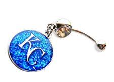Kc Kansas City Royals Baseball Navel Belly Button Ring Body Jewelry Piercing 14G