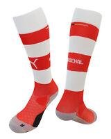 Puma Arsenal AFC Hooped Junior Boys Football Socks Red White 746375 01 DD4