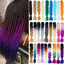 "24"" Ombre EXpression Jumbo Crochet Braiding Braid Hair Extensions Ombre Anycolor"