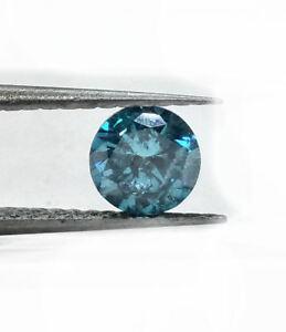 .95ct  Round Natural Diamond, Irradiated Blue. VS2 Clarity