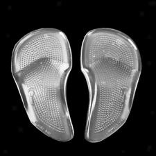 Pair Gel Forefoot Orthotic Arch Support Massaging Gel Insoles Insert Cushion