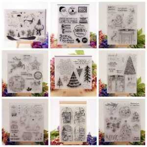 20 styles Silicone Clear Stamp Transparent Rubber Stamps DIY Scrapbook Christmas
