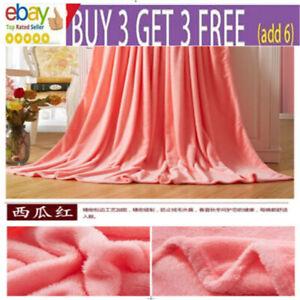 Coral Velvet Soft Warm Polar Fleece Blanket Rug Sofa Bed Throwover 70*100CM sr