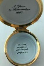 Halcyon Days Enamels Trinket Box Chi Omega Seal (1997 inside)