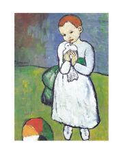 Pablo Picasso L`enfant au pigeon Poster Kunstdruck Bild 50x40cm - Germanposters