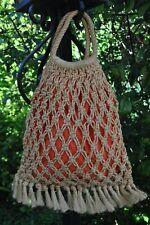 sac de plage vintage 70's en corde tressèe