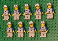 Lego Baseball MINIFIGURES Lot 9 Players People Lego Baseball Minifig No Gloves