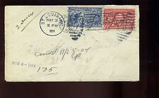 1904 Scott #E6 Special Delivery Stamp and #324 on Cover St Louis to Topeka KS